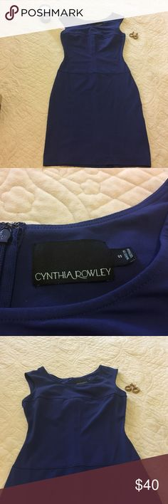 Cynthia Rowley BodyCon Stunning royal blue  👑 body con. In excellent condition only worn twice. Bust 34 in Waist 28 in Hip 36in Cynthia Rowley Dresses Mini