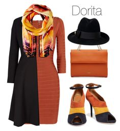 """""""Dorita"""" by begopuig ❤ liked on Polyvore featuring Hervé Léger, Malone Souliers, Roberto Cavalli, Nina Ricci and Gucci"""