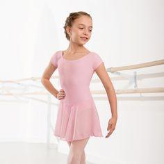 NATD Class / Preliminary/Grade 1 Voile Skirted Cap Sleeved Leotard dazzle-dancewear.co.uk