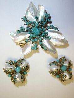 De Mario brooch and earrings