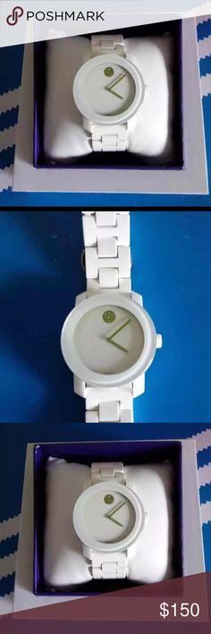 Movado Watch Movado white watch Movado Jewelry