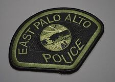 East Palo Alto California Police Subdued SWAT Patch ++ Mint San Mateo County CA