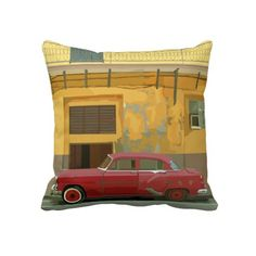 Almendron Havana Pillow #cuba #oldtimer #car #vintage