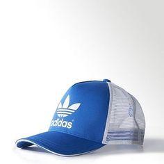 Adidas originals #trucker cap #snapback baseball hat retro cap blue #white,  View