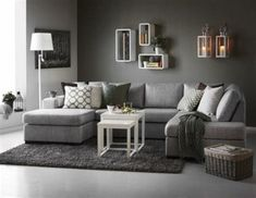 Living Room Decor for Gray Couches Living Room Grey Couch Gray Designs Curtain Rooms Rustic Grey Walls Living Room, Living Room Color Schemes, Living Room Colors, Living Room Sofa, Living Room Designs, Living Room Furniture, Living Room Decor, Colour Schemes, Apartment Living