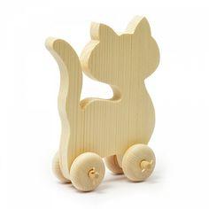Заготовка деревянная  арт.БН.200.16 Кошка 16х7,5х18 см, толщина 1,5 см (сосна)