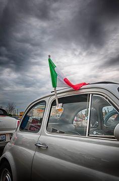 Photograph Fiat & Flag by Meg Ciliberti on 500px