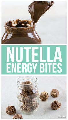 Nutella Energy Bites...so easy...so delicious!