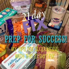 Here are my biggest tips and takeaways from the 21 Day Fix! Prep for Success Tips for the 21 Day Fix - Succeed and take control of your health!