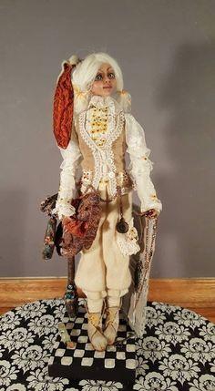 OOAK Fantasy Figure Sculpture, Polymer Clay Art Doll