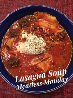 Lasagna Soup|Meatless|Monday|vegetarian|healthy|easy|Beyond Meat