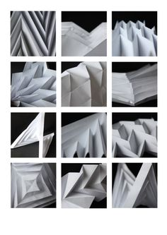 folded paper, origami,