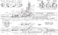Diagram of the interior of a WWI U boat Pictures