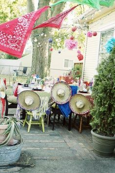 Somehow Cinco de Mayo has snuck up on us this year and we are unprepared to host a party today! I LOVE Cinco de Mayo, so I am scheming at w. Fiestas Party, Fiesta Theme Party, Western Parties, Mexican Party, Throw A Party, Party Entertainment, Party Time, Party Party, Party Planning