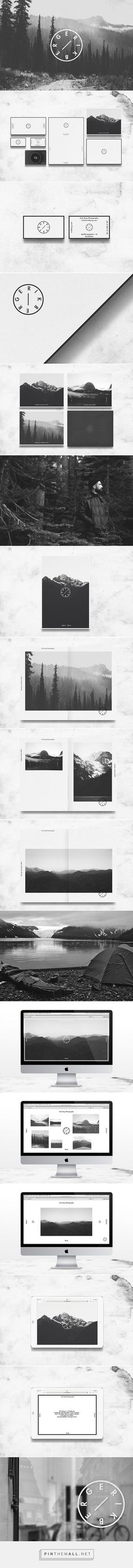 """Design by Whiskey & Mentine:  """"Erik Berg is a Swedish photographer who asked for a clear identity and a format to present his work, from a print portfolio to a digital website. The logo inspired by a mechanical element of the camera used to choose the exposition.""""  #Branding #Logo #WebDesign:"""