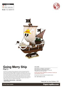 PaperToy - One Peace - Going Merry Part 03 001