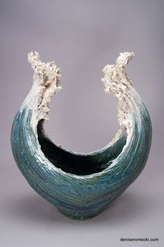 Waves - Denise Romecki - Ceramic Sculpture