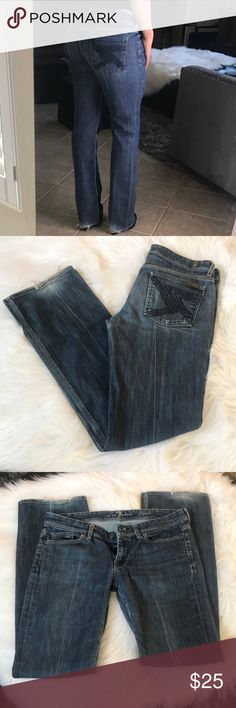 7 For all mankind jeans Good used condition 7 for all mankind jeans size 30 inseam 33 7 For All Mankind Jeans Boot Cut