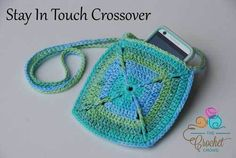 Stay In Touch Crossover crocheted by Jeanne Steinhilber