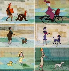 101 Dalmatians (Disney). This picture shows how dogs match their owners, always my favourite part of the movie! :-)