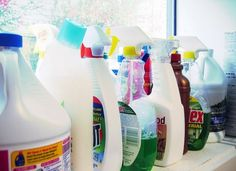 Many name-brand household cleaners contain a slew of toxic chemicals that damage the environment and your health; these 10 are some of the worst of the worst.