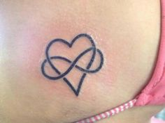 The infinity symbol entwined with a heart, symbolizing infinite and never ending love ♥