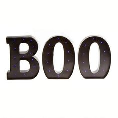 """One of my favorite discoveries at ChristmasTreeShops.com: 12"""" LED Marquee Metal """"BOO"""""""
