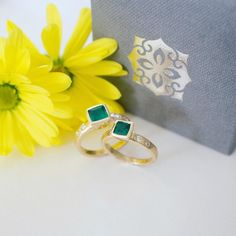 Who could resist the stunning colours of these Emerald rings? .  #May #Birthstone #Emerald #Diamond #Gold #Precious #Rings #MadeInLondon #HandMade #Design #Style #Beautiful #Jewellery #Jewelry #DowerAndHall