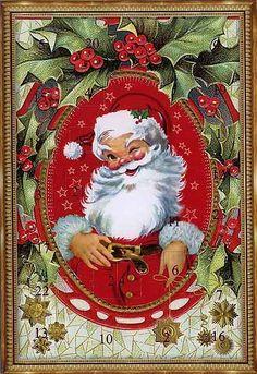 vintage western germany advent calendar christmas tree. Black Bedroom Furniture Sets. Home Design Ideas