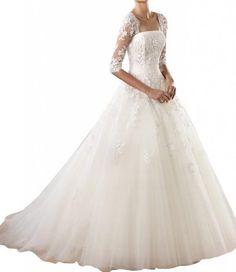 Gorgeous Bridal Lace Half Sleeves Long Elegant Bridal Gowns Tulle- US Size 8 Gorgeous Bridal,http://www.amazon.com/dp/B00GOJDYWC/ref=cm_sw_r_pi_dp_e6qmtb0A0PVAKQTZ