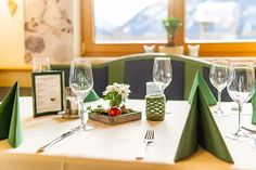 Braunhofer - Restaurant / Pension in Schladming. Restaurant, Table Decorations, Furniture, Home Decor, Get Tan, Decoration Home, Room Decor, Diner Restaurant, Home Furnishings