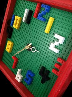 Kids Wall Clock Kids Bedroom Decor by WooderfulCreations on Etsy - Kid ideas - Lego Boys Lego Bedroom, Legos, Deco Lego, Diy For Kids, Crafts For Kids, Lego Decorations, Diy Clock, Clock Decor, Wall Clocks