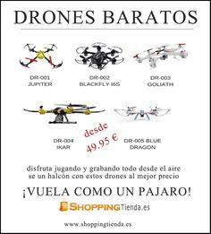 ¡DRONES BARATOS! aprovecha estos productos oferta al mejor precio. ¡VUELA COMO UN PÁJARO! www.shoppingtienda.es/67434-drones G&G Anuncios #drones #baratos