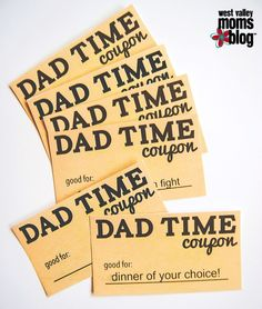 Father's Day Printable Coupons | West Valley Moms Blog