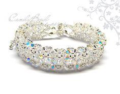 Snow Ice Swarovski Crystal Bracelet