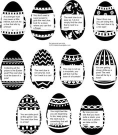 Easter outdoor scavenger hunt with free printable clues and tags Outdoor Scavenger Hunts, Scavenger Hunt For Kids, Easter Scavenger Hunt Riddles, Easter Egg Hunt Clues, Easter Eggs, Easter Riddles, Easter Games, Xmas Games, Christmas Games