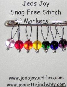 Knitting Stitch Markers SnagFree Stitch Marker by jeanettejed, $6.00