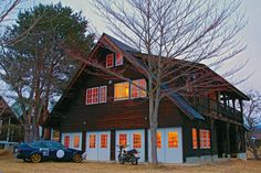 The home of Shiro Nakajima's 46Works custom motorcycle workshop, a beautiful old building in the foothills of the Yatsugatake Mountains.