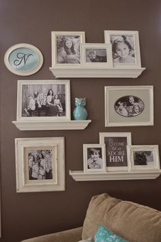 This is how my gallery wall used to look - I liked it, but I felt it needed some updating.  I took all the frames down and spray painted th...