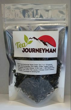 Mount Kanchenjunga Nepal Green Tea One Ounce (28 g) Packet. Now available at http://www.teajourneymanshop.com.