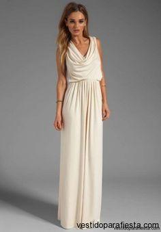 Elegantes y modernos vestidos largos de fiesta con escote en la espalda - 13