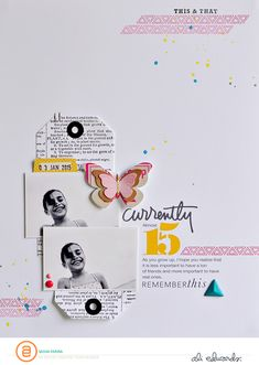 #papercraft #scrapbook #layout - LOVE this! via Ali Edwards | Blog: AE Digital Creative Team | Layout Inspiration