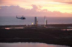 Secuencia de el lanzamiento de la nave espacial de la NASA Orión