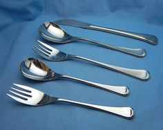 Midcentury Flatware Set, Service for 8, Midcentury Stainless Silverware, Danish Modern Japan Stainless Flatware Towle Supreme Cutlery Cobra