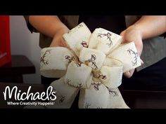 (94) How to Make a Bow | DIY Holiday | Michaels - YouTube Diy Bow, Diy Ribbon, Wired Ribbon, Ribbon Bows, Mesh Ribbon, Ribbons, Christmas Tree Bows, Christmas Crafts, Christmas Decorations