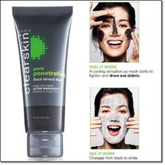 Avon Clearskin Pore Penetrating Black Mineral Mask best mask I've ever used! http://www.youravon.com/notyourmamasmakeup