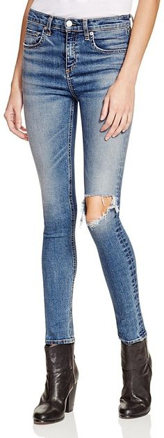 9de0c7809cce rag   bone JEAN High Rise Skinny Jeans in Ward High Waisted Distressed Jeans