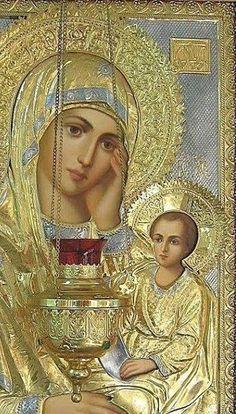 Κανδήλα (ΚΤ) Blessed Mother Mary, Divine Mother, Blessed Virgin Mary, Catholic Art, Religious Art, Hail Holy Queen, Catholic Pictures, Religion Catolica, Mama Mary