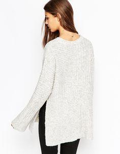 ASOS Premium Blocked Pattern Sweater in Alpaca Mix