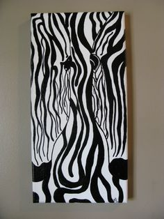Unique Zebra Painting by ThePurpleManikin on Etsy, $50.00